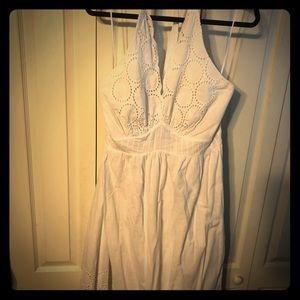 Halter eyelet dress